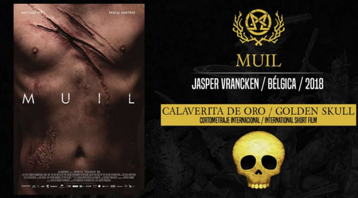 Afbeelding van MAW (MUIL) Wins golden skull for best international short at the horror genre festival Morbido Film Fest (Mexico) !!